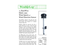 RainWise - WSR/WDV - Multi-Vane Wind Speed and Direction Sensor Datasheet