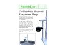 RainWise - EVAP - Electronic Evaporation Sensor Datasheet