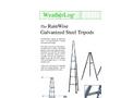 RainWise - Pod-Galvanized Steel Tripods - Datasheet