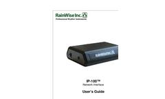 RainWise - Model IP-100 - Network Interface - Manual