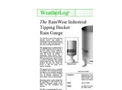 RainWise - Model RGA - Industrial Tipping Bucket Rain Gauge - Datasheet