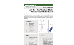 All - In - One Weather Station With Optional Solar Panel - Brochure
