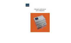 Model CV7-V-ANA-AC3 - Ultrasonic Wind Sensor - User Manual