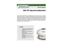 Model MS - 701 - Spectroradiometer Brochure
