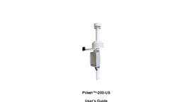 PVmet - Model 200US - Ultra Sonic Commercial Model - User Manual