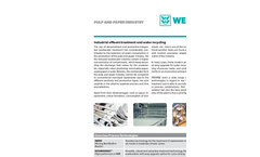 Pulp & Paper Industry: Industrial Effluent Treatment and Water Recycling