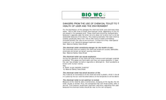 Dangers From the Use of Chemical Toilet to the Health of User and Environment Brochure