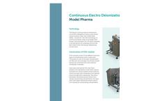 EDIpure Pharma Continuous Electro Deionization Unit Brochure