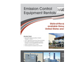 Emission Control Equipment Rentals - Brochure
