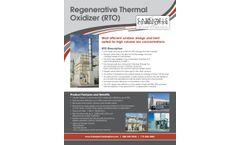 Regenerative Thermal Oxidizer (RTO) - Brochure