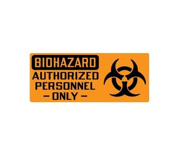 Biohazard Signs for Authorized Personnel Only with Symbol