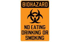 Biohazard Sign for Biohazard No Eating, Drinking or Smoking with Symbol