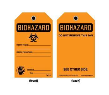 Model TAG OB 45 - Biohazard Tag