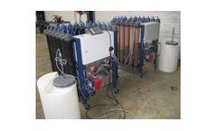 Industrial water demineralisation