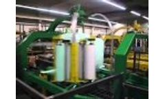 Rotowrap 50 - Waste Bale Wrapper - Waste Bale Wrapping Technology by PTF Häusser GmbH Video