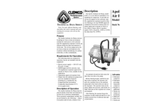 Model CAP-1 - Ambient Air Pump Brochure