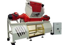 Evashred - Model EV110E - Shredder for Tyres or E-Scrap or Paper or Plastic of Fabric or Wood or Food Waste