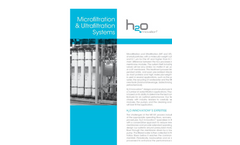 MF/UF Microfiltration & Ultrafiltration Systems Technical Sheet
