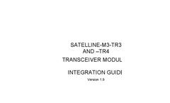SATELLINE - Model M3-TR4 OA - Data Transceiver Module Brochure