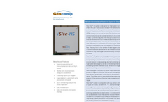 iSite - Model HS - Remote Instrumentation Monitoring System for Structural Health Monitoring Datasheet
