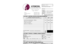 Hydrosil XB-17 Activated Carbon MSDS
