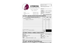Hydrosil HS-CL Sodium Thiosulfate Impregnated Media MSDS