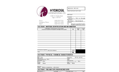 Hydrosil HS-100 For Water Filtration MSDS