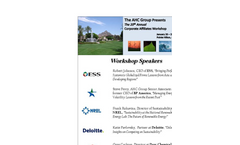20th Annual Corporate Affiliates Workshop Series - Save the Date Brochure (PDF 392 KB)