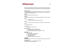 WaterSam - Model WS 98 - Wall Mounted Water Sampler Technical Specifications
