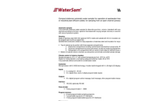 WaterSam - Model WS 312 - Compact Stationary Water Sampler Technical Specifications