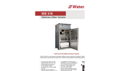 Model WS 316 - Stationary Water Sampler Datasheet