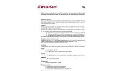 Model WS 316 - Stationary Water Sampler Technical Specifications