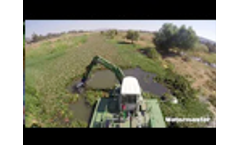 Removing Invasive Water Hyacinth from a River In Mexico With the Multipurpose Watermaster Dredger Video