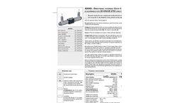 Cetop - Model AD3XD Series - Valves and Blocks - Directional Control - Technical Datasheet