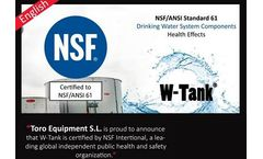W-Tank is suitable for the storage of drinking water, our GRP modular tanks are NSF/ANSI 61 certified