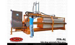 Draco® - Model FPA-AL - Side-drag atuomatic filter press
