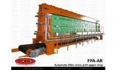 Draco® - Model FPA-AR - Automatic filter press with upper drag