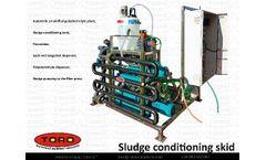 Sludge Conditioning Skid - Filter press