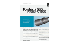 Trelleborg - Model 565 - C-900 - Rieber Potable Water Pipes Sealing Systems Datasheet