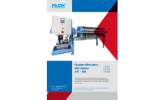 Filox - Model KF 047/KF 063/KF 080 - Chamber Filter Press With Vibrator - Brochure