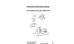 LANDY BTP - Dry Installed Pump - Operation & Maintenance Manual