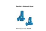 DTP - Submersible Pumps - Operation & Maintenance Manual