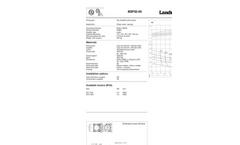 Landustrie LANDY - BSP Series - Dry Installed Cutter Pump - Datasheets