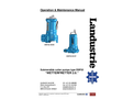 Landustrie LANDY - DSP Series - Submersible Cutter Pumps - Operation & Maintenance Manual