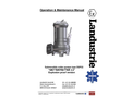 Landustrie LANDY - DSP ATEX - Submersible Cutter Pumps - Operation & Maintenance Manual