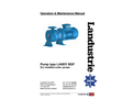 Landustrie LANDY - Model BSP - Dry Installed Cutter Pumps - Operation & Maintenance Manual