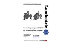 Type Landy BWP & BNP - Dry Installed Pump - Operation & Maintenance Manual