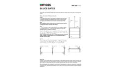 Mass Aritma - Model MAN 1200 - Sluice Gates Brochure