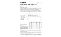 Mass Aritma - Model MAN 5210 - Horizontal Shaft Aerators Brochure