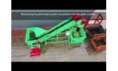 Gradeall Glass Crusher Conveyor - Video